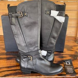New Naturalizer Janie black leather riding boot 10